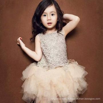 Elegant Robes de mariée pour les enfants Fashion Evening Girl Dress Party Robe bébé