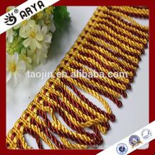 Hangzhou Taojin Textile Tassel Curtain Trims Frisado Tassel Fringe para Cortina