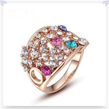 Кристалл ювелирных изделий Мода аксессуары сплава кольцо (AL0030G)