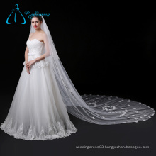 High Quality Fabric Tulle Petal Wedding Veil Long Cathedral