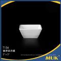 Productos únicos 2016 de China cerámica blanca que sirve platos