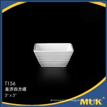Eurohome manufacturer new square design ceramic saucers