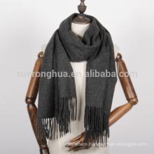 Deep grey 100%pure cashmere pashmina shawl