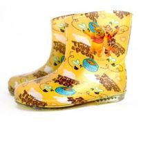 Novo Design extravagante estilo menina crianças sapatos, Rainboots do PVC