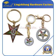Ordem maçónica do metal da estrela oriental chaveiro
