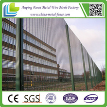Galvanized and PVC Coated Galvanized Fence Wire Anti Climb Welded Panel Fence 358 Security Fence