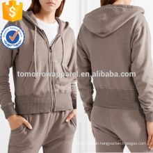 Cotton Blend Terry Hooded Top OEM/ODM Manufacture Wholesale Fashion Women Apparel (TA7010H)
