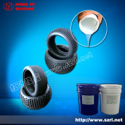 Platinum cured silicone rubber for tire mold