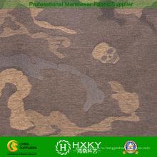 Череп с дизайн камуфляж полиэфира Покрашенная пряжей ткань для ватников