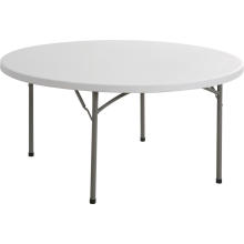 Mesa plástica redonda de 160 cm, mesa de acampamento, mesa de conferência