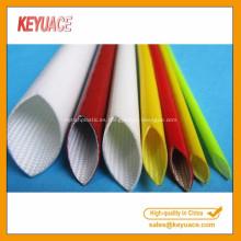 Manga de fibra de vidrio de goma de silicona