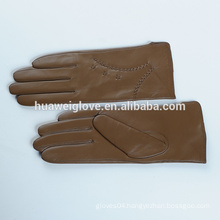 High quality fashion women wholesale leather gloves