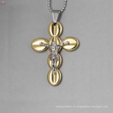 Mode jésus cross pendentifs, pendentifs croix d'or en gros