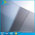 Ecofriendly techo de policarbonato transparente resistente al calor uv gris hoja de plástico