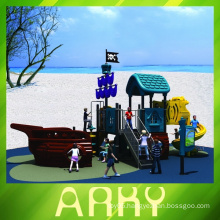 Colorful Childhood Pirate Ship Playground Equipment