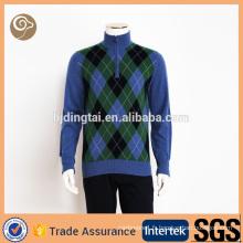 Tricoté Chine gros pull en laine col haut pour les hommes