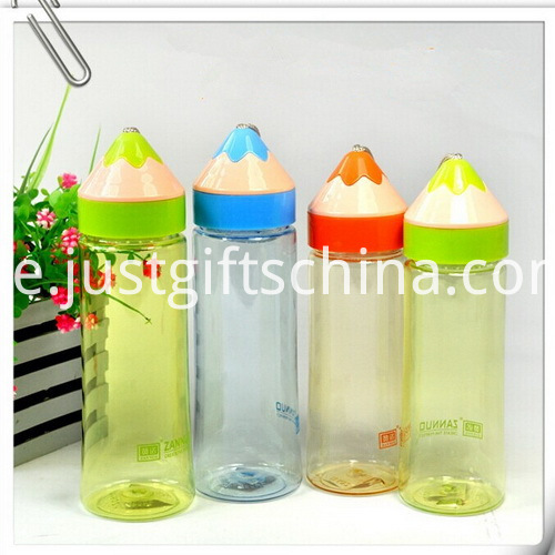 Promotional Food Grade Plastic Students Cup with Pencil Shaped Cap1