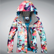 Colorful/fashionable snowboard outdoor winter jacket customized in Shanghai CN