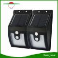 10 LED de luz solar al aire libre con sensor de movimiento Lámparas solares 300 lúmenes de resistente al agua para lámpara de seguridad de jardín