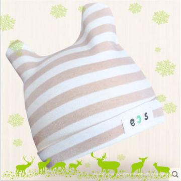 Chapéu de bebê de algodão orgânico natural para infantil