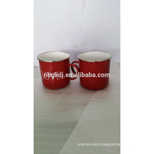 custom red mugs and cups & printed enamel mugs enamelware
