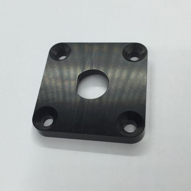 black anodized aluminum finish