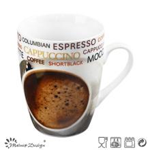 Taza de café de la porcelana del estilo 12oz de