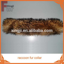 real fur natural color top quality raccoon skin fur collar for jacket