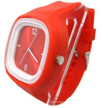 2013 beliebtesten benutzerdefinierten Lady Frauen Silikon Uhren