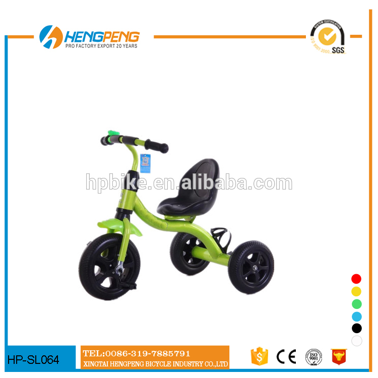 steel frame plastic tricycle with basket princess favourite kids tricycle
