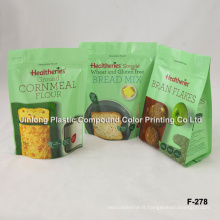 Stand up Food Packaging Bag with Zipper