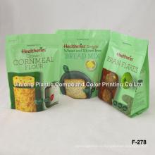 Встать сумку для упаковки продуктов с молнией