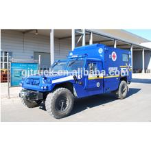 Voiture d'ambulance médicale militaire