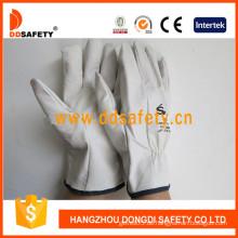 Ziegenfell Fahrer Leder Handschuh (DLD522)