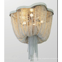 Metal Link Chain Fashion Design Ceiling Light Lobby Ceiling Lamp