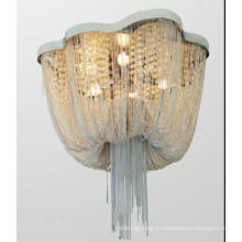 Металлическая Цепь Мода Дизайн Потолочный Светильник Лобби Потолочный Светильник
