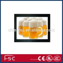 Menu post slim magnetic led backlit picture frame