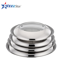 Hot sale stainless steel pot lid with glass window