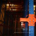 Entraînement en rack en acier dans un système de rayonnage à palettes