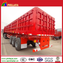 Chine 60-70cbm camion à benne basculante de la cargaison / remorque de benne semi-remorque