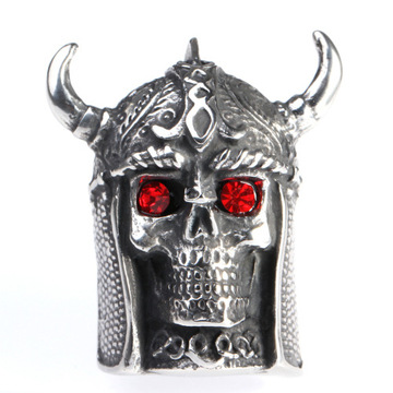 Bull head mask stainless steel finger rings