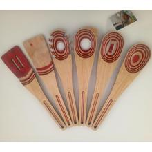Kitchen utensils made from pakkawood