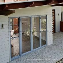 Изготовленные на заказ алюминиевые двери со стеклом (фут-Г70)