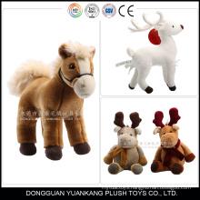 Custom any style plush reindeer baby rocking horses plush