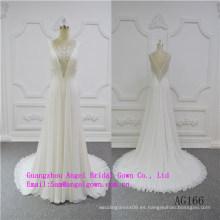Magnífico vestido de novia sirena