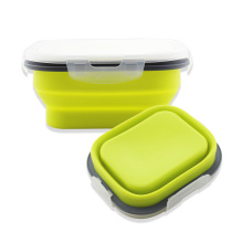 Silikon Fällbar Matförvaring Container Lunch Box