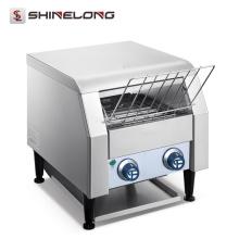Venta caliente Heavy Duty comercial acero inoxidable transportador eléctrico único pan sandwichera máquina
