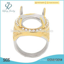 El anillo más caliente del oro y de la plata de Indonesia indonesia sin el anillo de piedra de los hombres de Indonesia