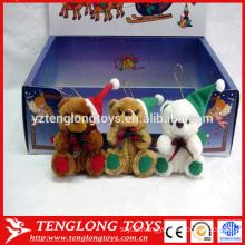 High quality Custom Bear Christmas plush toys stuffed Christmas bear toys