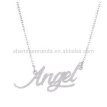 """angel"" script pendant necklace for girls hot sales product"